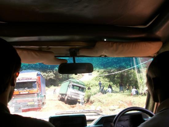 Kondoa Rock-Art Sites: An all too common occurance on TZ roads!