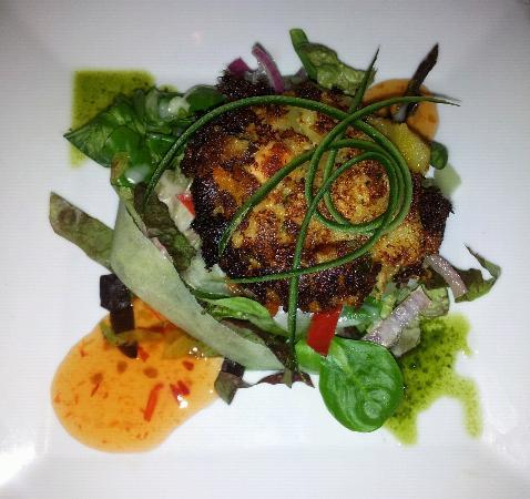 Hotel Telemark: Sweet potato fish cake starter