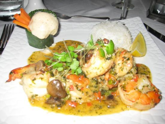 The Wine Cellar: The shrimp dinner