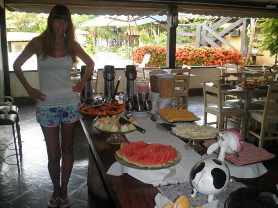 Pousada dos Tangaras: Desayuno