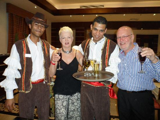 Xperience Sea Breeze Resort: Our waiters Hussein and Islam