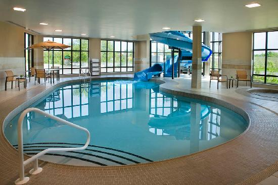 Indoor pool w waterslide hours vary please check with hotel picture of courtyard by for Citywide aquatics division swimming pool slide