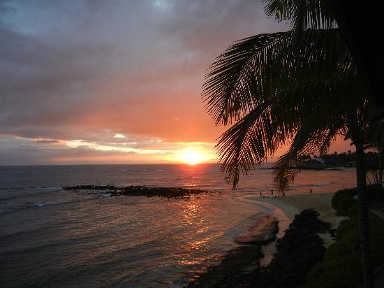 Koa Kea Hotel & Resort: Sunset from balcony