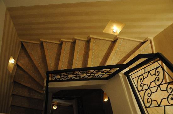 Riad Atman: Going up the terrace,,,,