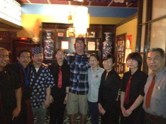 Kimono Japanese Seafood: Travis pastrara , he came our restsurant last night for dinner.