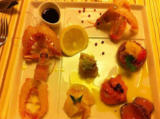 Principe Forte dei Marmi: cena osteria del mare