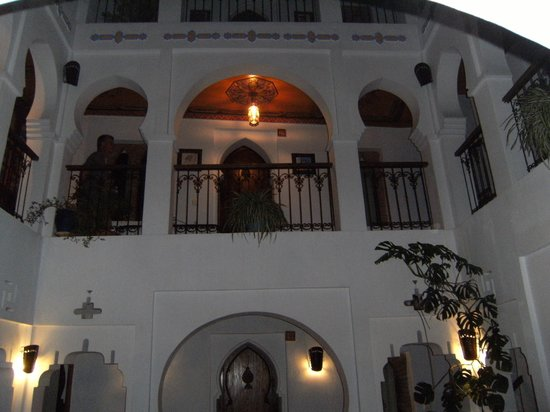 Hotel Riad Casa Hassan Restaurante: Patio interior, de invierno