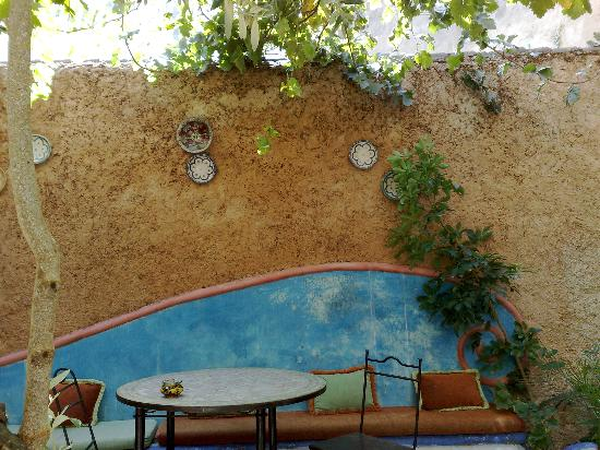 Hotel Riad Casa Hassan Restaurante: Patio interior