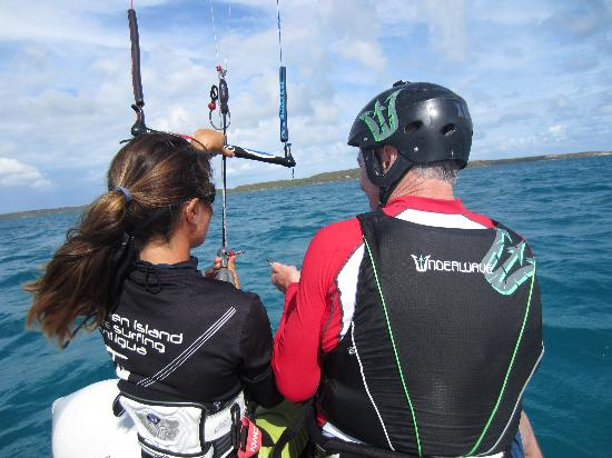 40Knots Kitesurfing & Windsurfing School Antigua: Having a Zodiac boat makes a huge difference