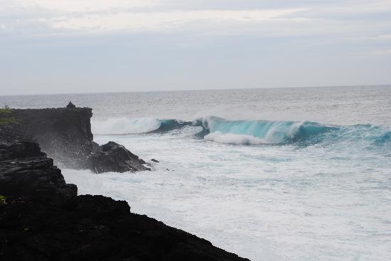 Kahanu Garden: Sea cliffs