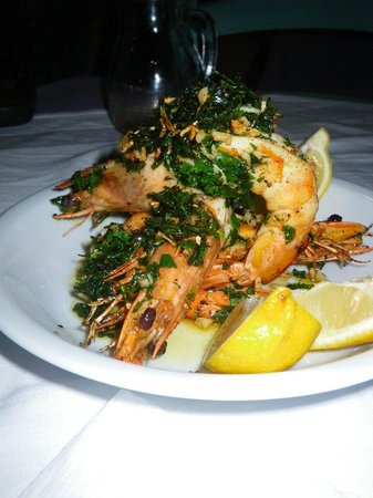 The Windmill Restaurant : prawns - so beautifully presented
