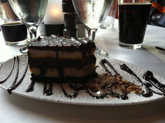 Jamestown, NY: The dessert. chocolate cheesecake…yum!