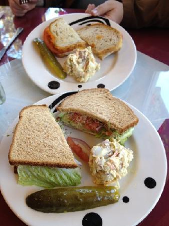 Oma's European Restaurant: Sandwiches and potato salad
