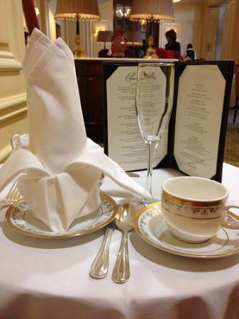 Willard InterContinental Washington: the table setting