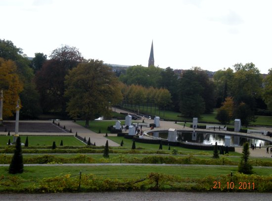 Sanssouci Palace: The terrance gardens, looking down from the palace