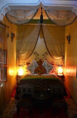 riad bleu du sud romantische slaapkamer