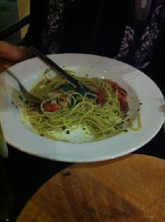 Mammas: tasteless garlic prawn