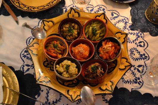 Riad Bleu Du Sud : eten is klasse in de Riad