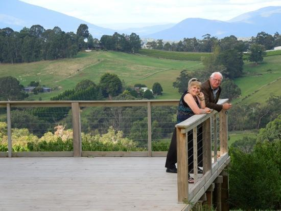 Yarra Valley Private Winery Tours: Geoff, our host, and my wife