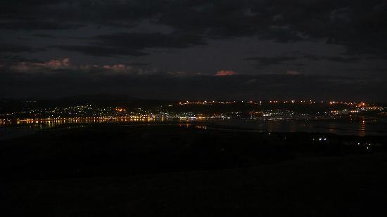Brenton Hill Self Catering: View at night from the Oystercatcher Room
