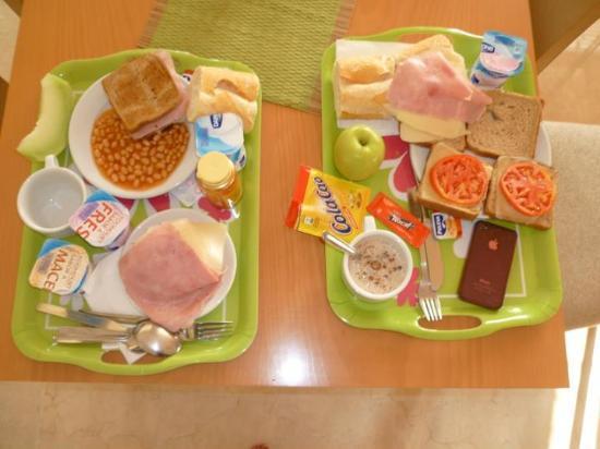Orosol Hotel: breakfast yum yum (iphone not included)