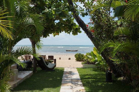 Casa na Praia: vista da pousada para o mar