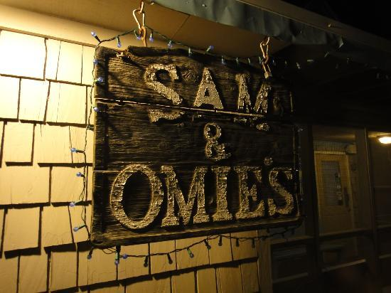 Sam & Omie's Restaurant: the old sign