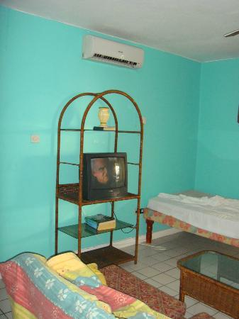 Negril Beach Club: this is the tv no remote and buttons did not work