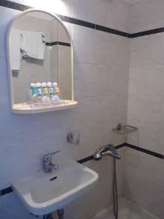 Kiani Akti: Bathroom (the toilet was right next to the basin)