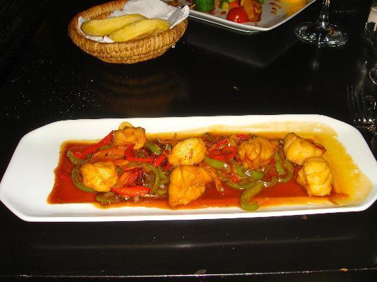 Riad Opale Marrakech : Monk Fish at the Kosy Bar