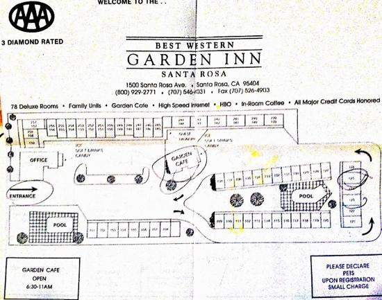 Best Western Plus Garden Inn: Lageplan