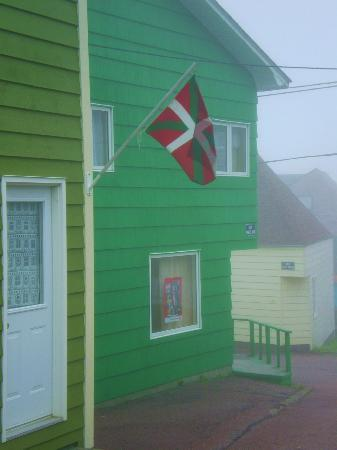 Saint-Pierre and Miquelon: Flag in the Mist