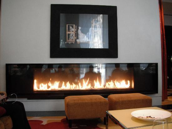 gorgeous fireplace in lobby picture of kimpton hotel
