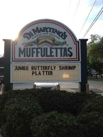 Dimartino's Corporate Hdqtrs: best muffuletta in town!
