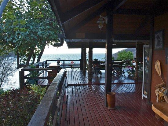 Pension Pukuee: Terrasse