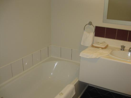 Suncourt Hotel & Conference Centre: Bath tub and sink