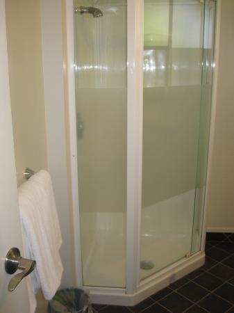 Suncourt Hotel & Conference Centre: Tiny shower area