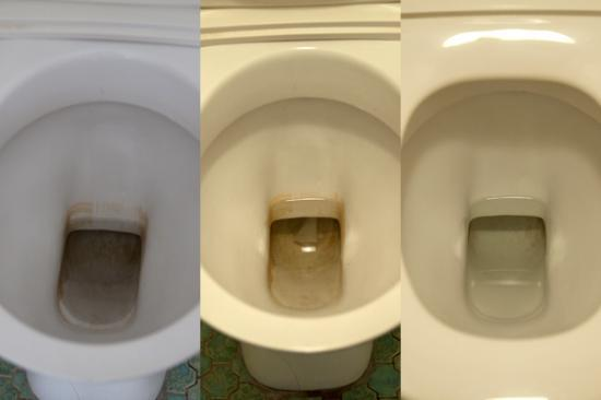 Panorama Tower: Before, After the Cleaners & After we cleaned the Toilet ourselves