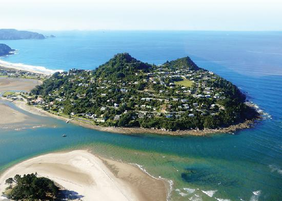Anton & Mary's Bed & Breakfast: Aerial view of Paku Hill Tairua