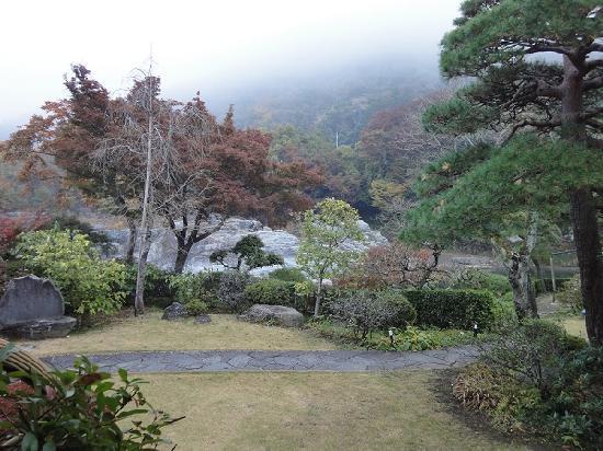 Nagatro Choseikan Ryokan: 部屋から見た、庭