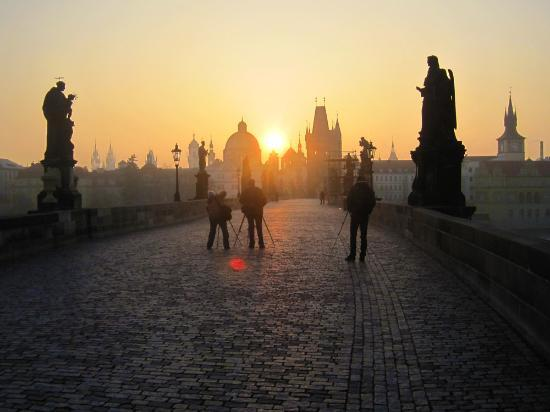 Sunrise on the charles bridge picture of domus balthasar for Domus balthasar design hotel prague
