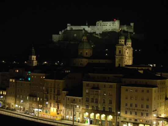 view from Hotel Stein Terrace at night