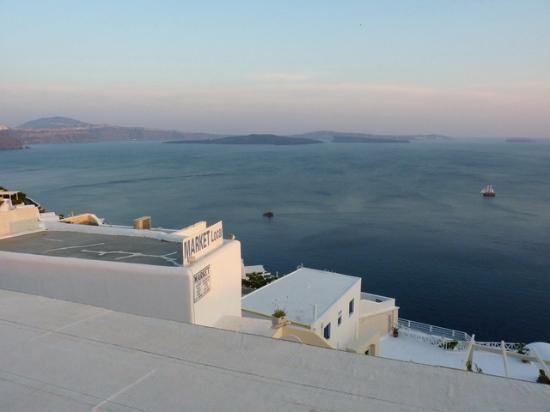 Stelios Rooms: View from the balcony before sunset 2