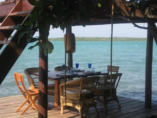 Agua Hotel: un comedor al lado del Mar
