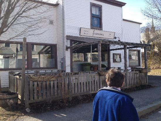 Francine Bistro : In the summer there is dining outside at Francine's.
