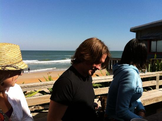 High Tides at Snack Jack: The view from outside seating