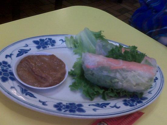 Thai Siam: Spring Rolls with Peanut Sauce