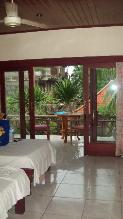 view through the bedroom to the balcony