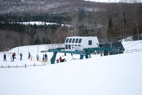 The Balsams: A typical lift line.