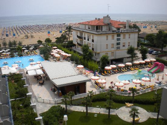 vista dalla terrazza - Bild von Bibione Palace Suite Hotel, Bibione ...